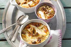 Walnuss Rezepte: Milchreis-Gratin mit Birnen und Walnüssen
