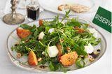 Rauke-Minze-Salat mit gebratenen Tomaten