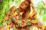 70er-Jahre-Mode: Kleid mit Blumenprint
