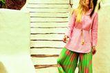 70er-Jahre-Mode: Leinentunika zu Palazzohose