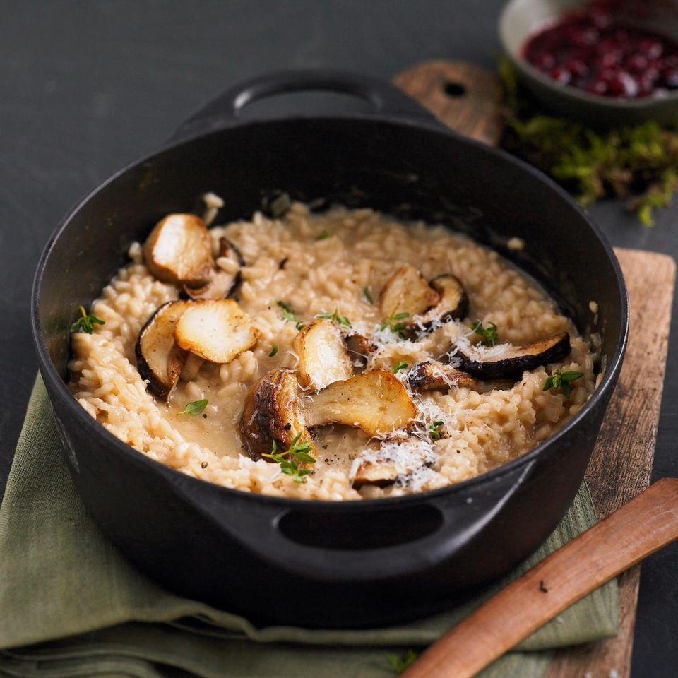Pilzrezepte: Steinpilz-Risotto mit Wermut