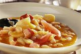 Weiße Bohnensuppe mit Kasseler