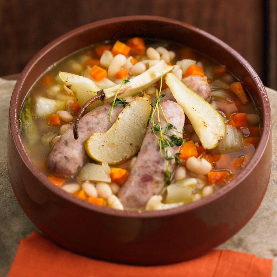 Bohneneintopf mit Kräuter-Pesto