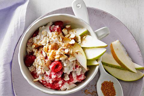 Frühstück zum Abnehmen: Himbeer-Mandel-Porridge
