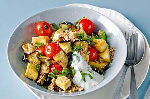 Auberginen-Tomaten-Couscous