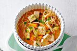 Laksa mit Tofu und Gemüse