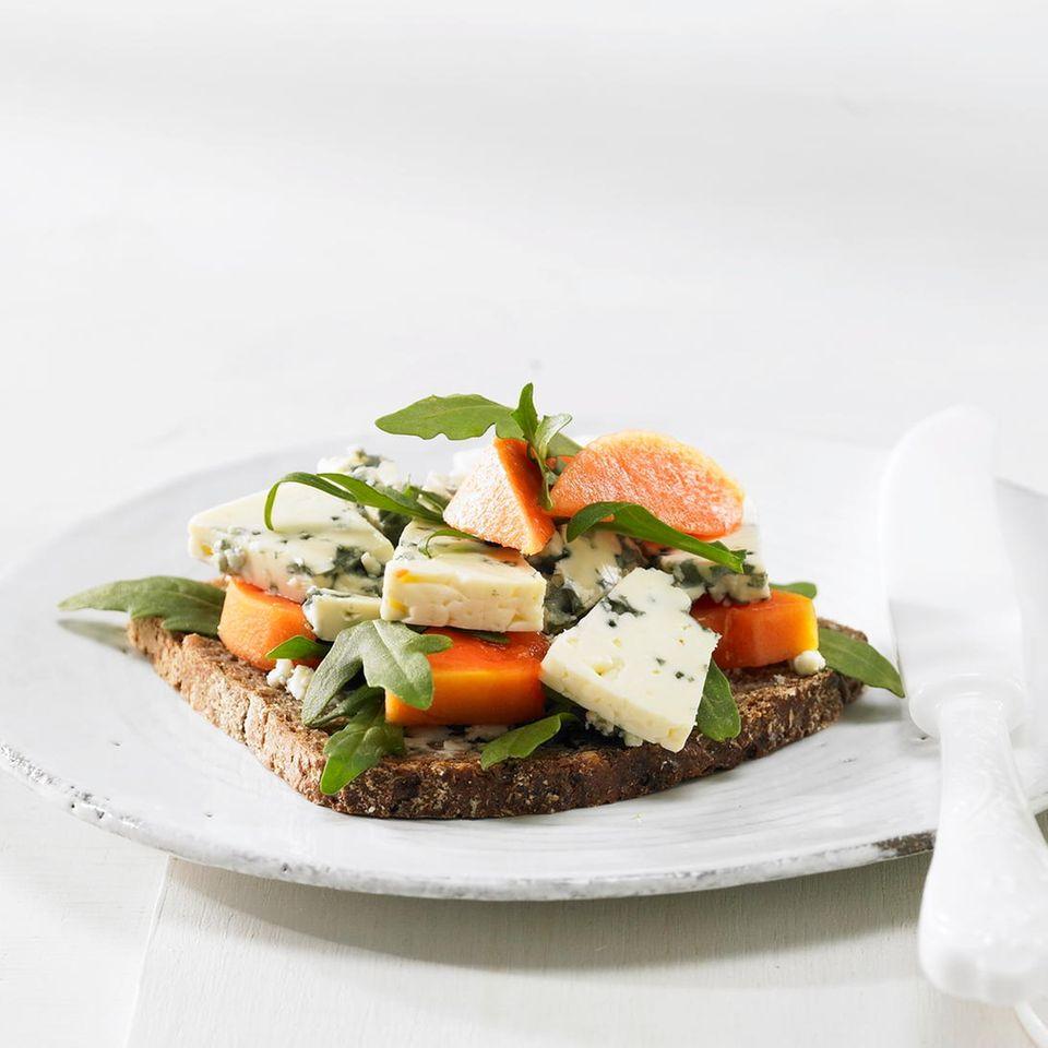Käse-Papaya-Schnitte