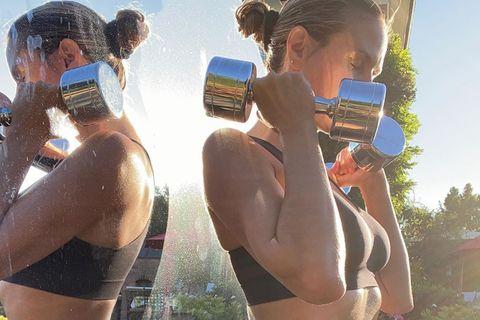 Heidi Klum: Bauchfrei-Foto zeigt hartes Training