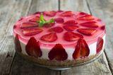 No-Bake-Kuchen: Erdbeer-Käsekuchen