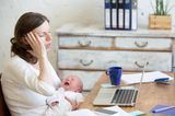 Väter Gebote: Mutter mit schreiendem Baby im Arm