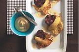 Kleine Kartoffelpuffer mit Blutwurst