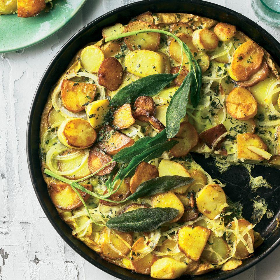 Kartoffelrezepte: Tortilla mit Salbei