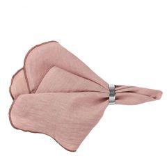 nachhaltige haushaltshelfer: rosa stoffserviette