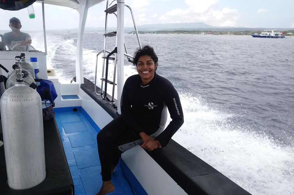 Tharaka Sriram: Beim Tauchen auf Nusa Lembongan, Indonesien