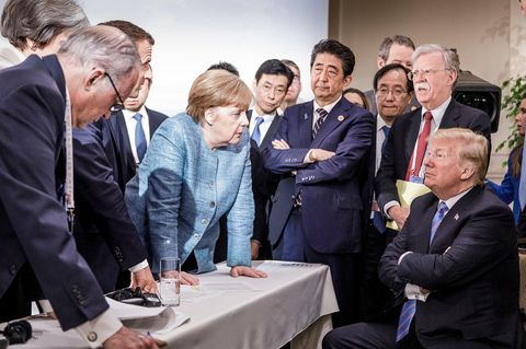 Merkel und Politiker 2018