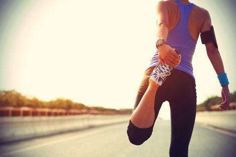 Fitness-Fehler: Frau beim Joggen