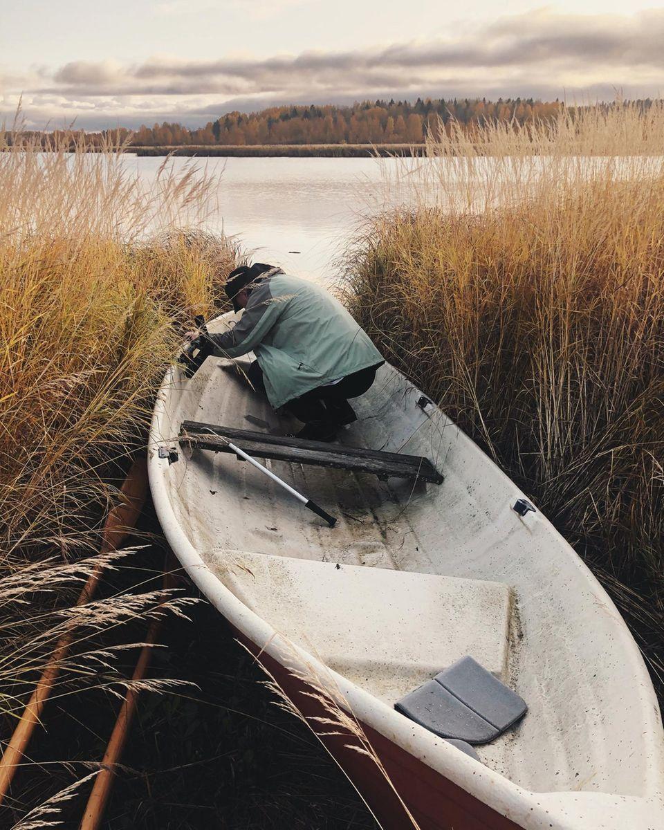 Boot an Seeufer
