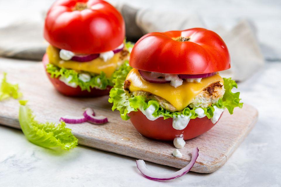 Atkins-Diät: Tomaten-Burger