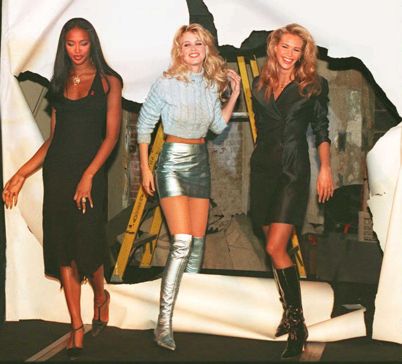 Claudia Schiffer: mit Naomi Campbell und Elle MacPherson