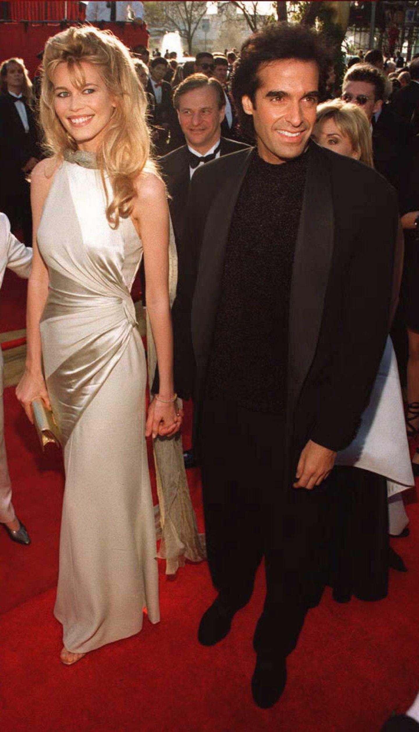 Claudia Schiffer: mit David Copperfield