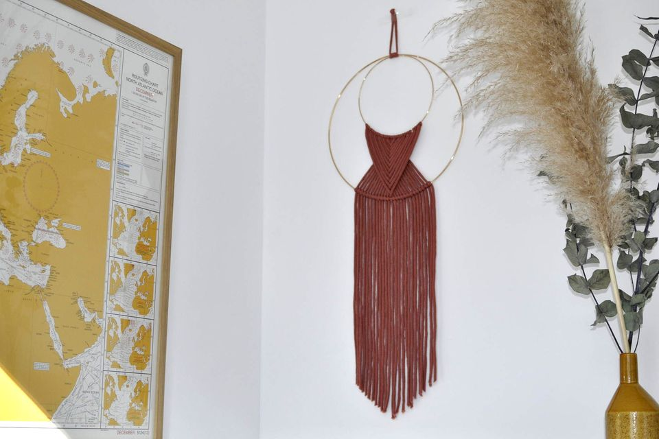 DIY Wanddeko: Wallhanging an der Wand