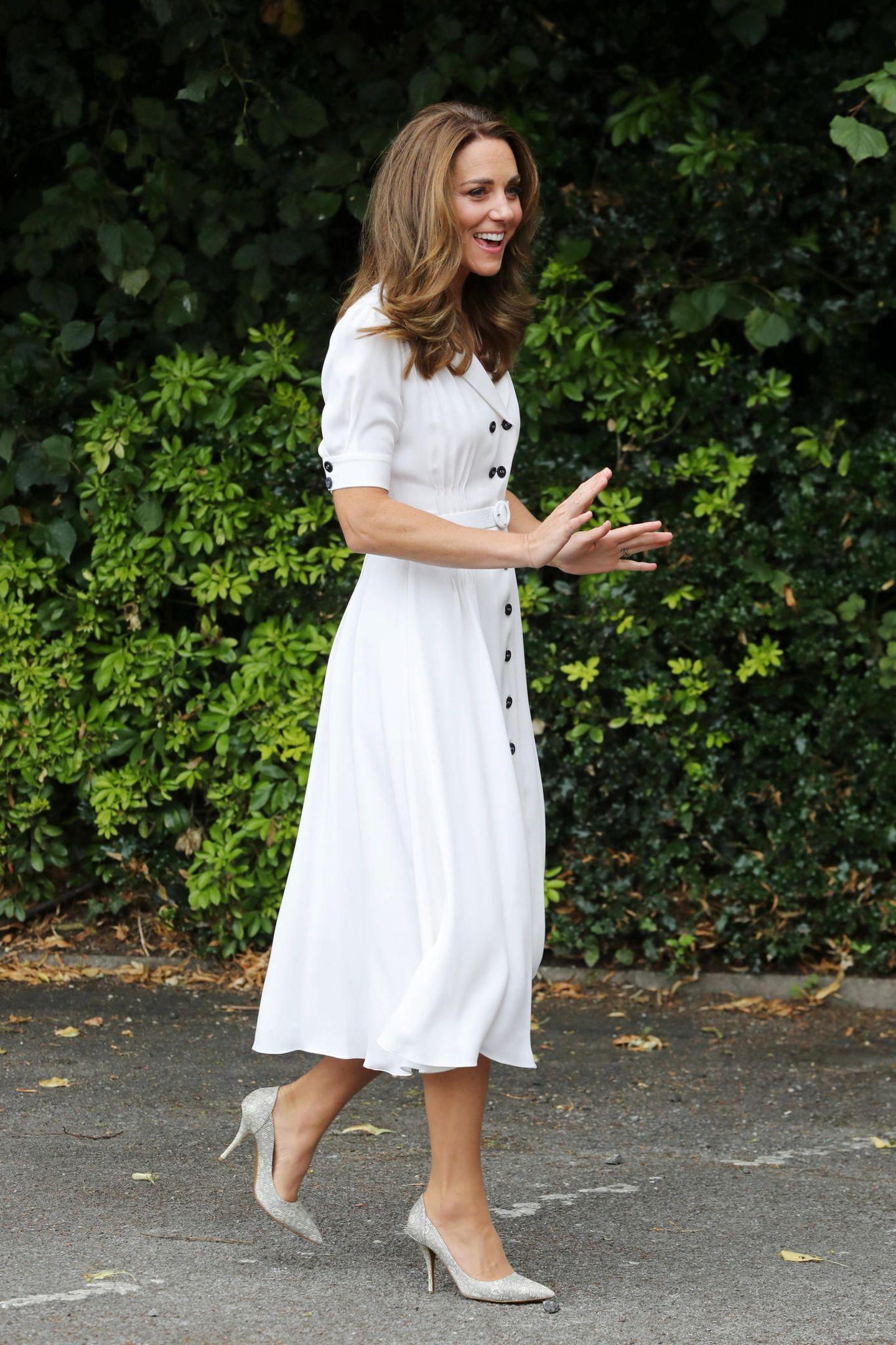 Herzogin Kate: im weißen Kleid