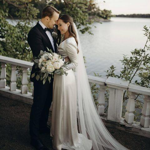 Brautkleider der Stars:Sanna Marin und Markus Räikkönen