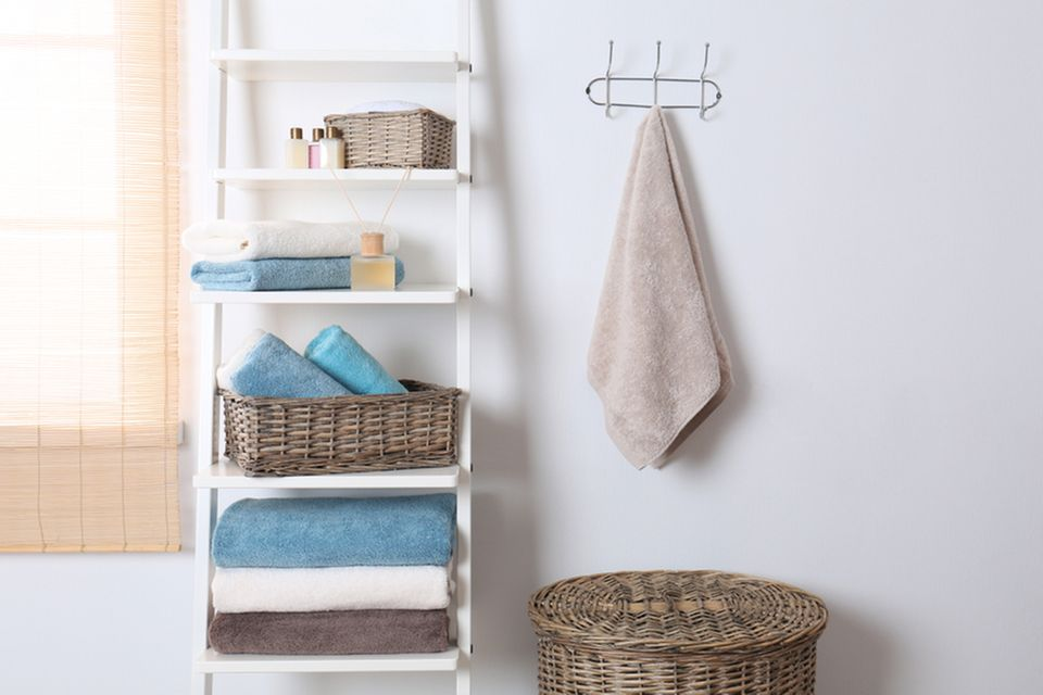 Stauraum im Bad: Handtuchleiter