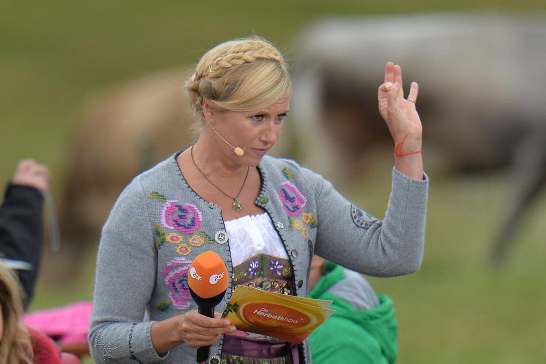 ZDF-Fernsehgarten: Andrea Kiewel watscht genervt ihre Kamerafrau ab