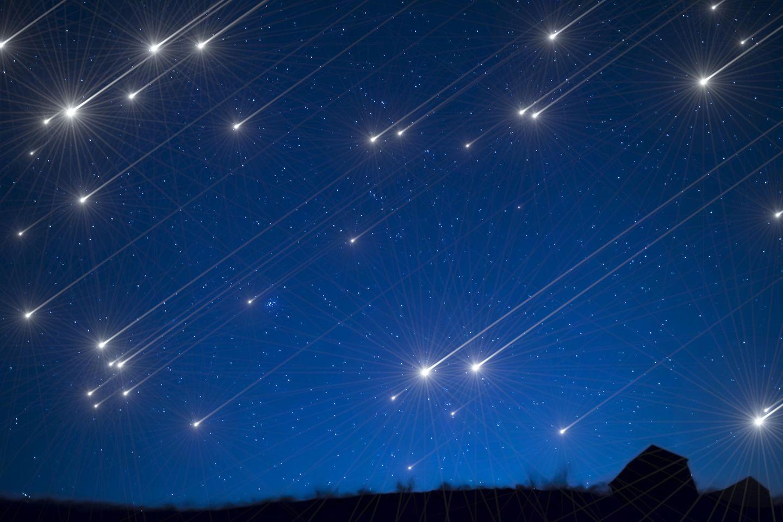 Horoskop: Sternschnuppen am Nachthimmel