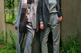 Farbtrend Graustufen: Models in grauen Anzügen