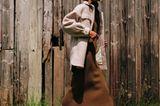 Stofftrend Plüsch: Model mit Teddyjacke