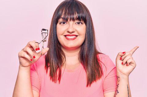 Wimpernzange: Frau, Make-up, Beauty-Tool