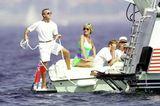 Lady Diana: im neonfarbenen  Badeanzug