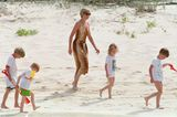 Lady Diana: am Strand
