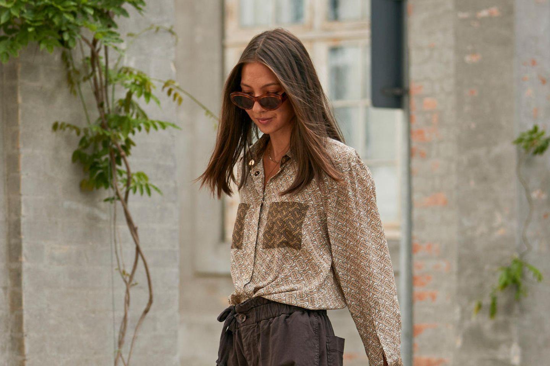 Besucherin der Fashion Week in Kopenhagen