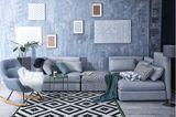 Leseecke einrichten: Wohnzimmer mit Schaukelstuhl