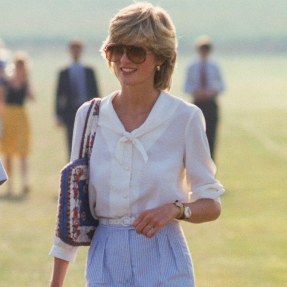 Lady Diana: in blauer Hose
