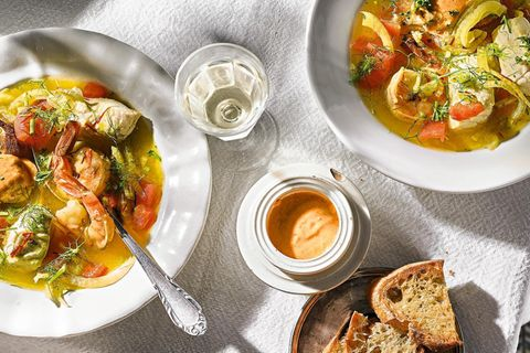 Bouillabaisse mit Rouille-Sauce