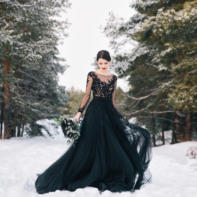 Schwarze Hochzeitskleider: Der neue Brautkleidtrend  BRIGITTE.de