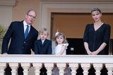 Royale Frisuren: Charlene von Monaco mit Flechtfrisur