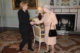 Queen Elizabeth II.: mit Angela Merkel