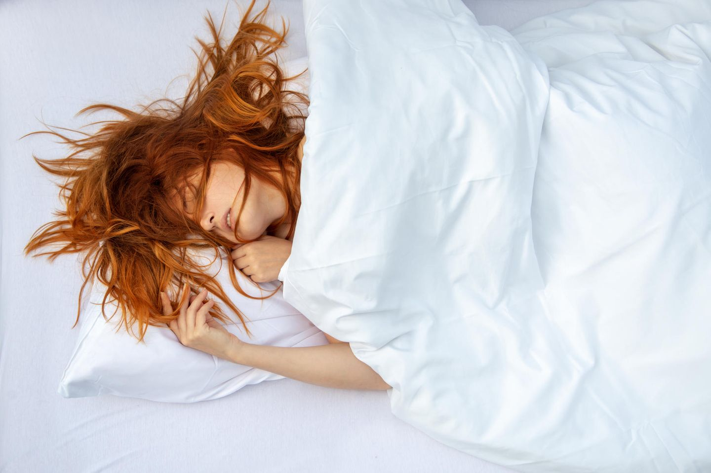 What happens while we sleep  A sleeping woman in bed