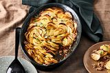 Paprika-Hack-Auflauf mit Kartoffelhaube