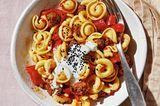 Paprika-Pasta mit Merguez
