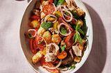 Tomaten-Brotsalat mit Thunfisch