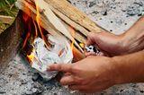 Haushalts-Tricks: Feuer machen