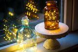 Wohnung gemütlich einrichten: Lichterketten