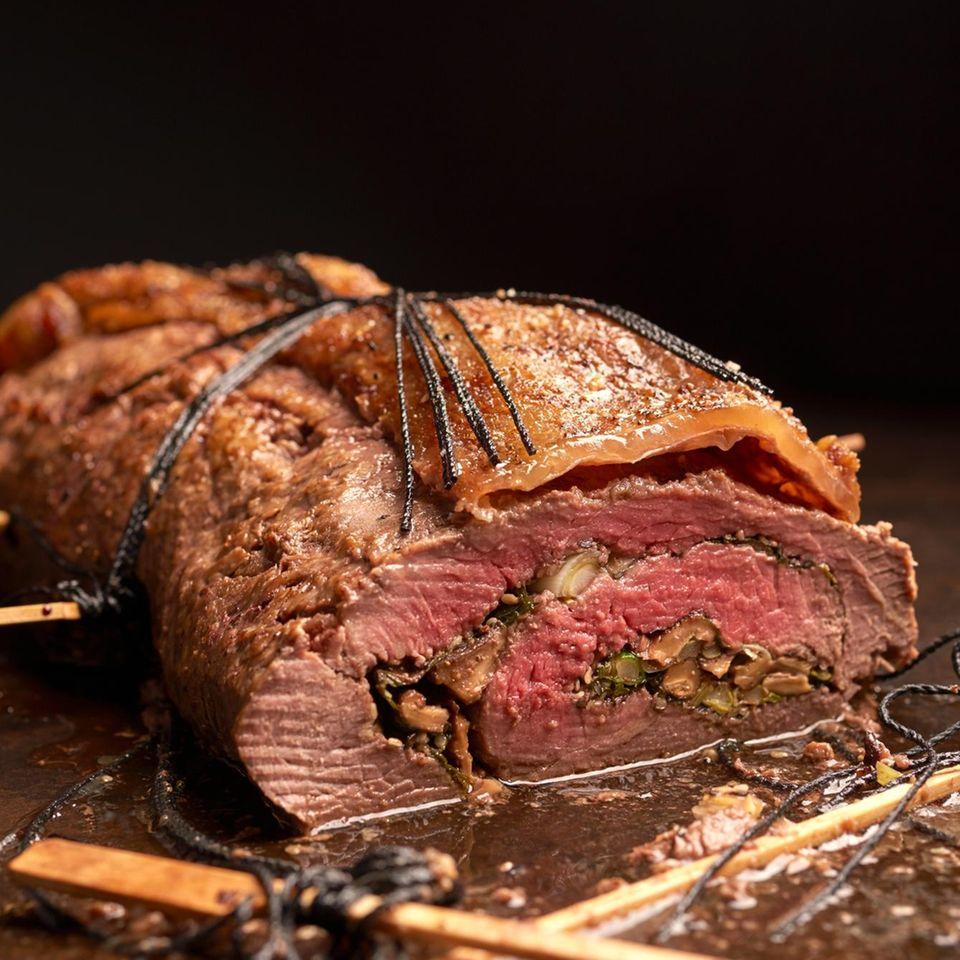 Asia Roast Beef Roll mit Pilzfüllung