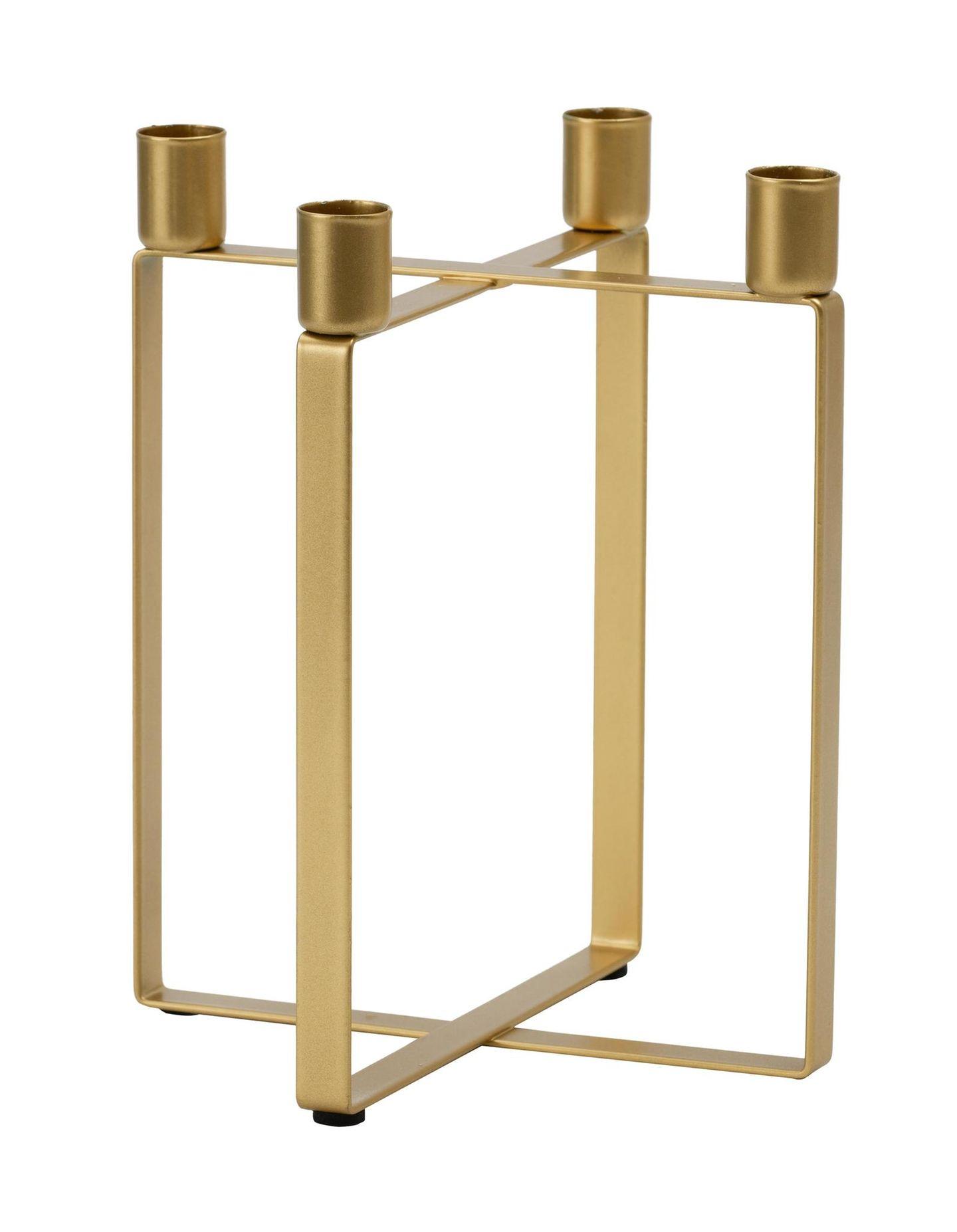 Goldener Kerzenhalter